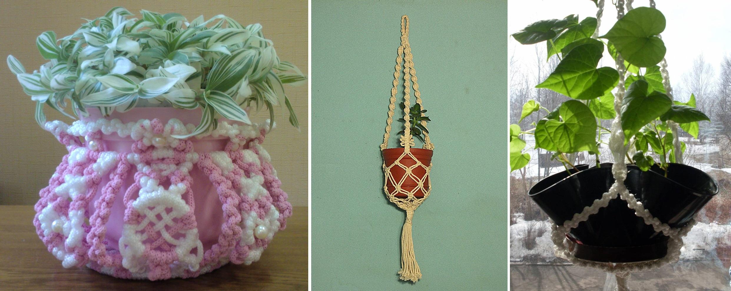 Корзины для цветов плетеные - 3d