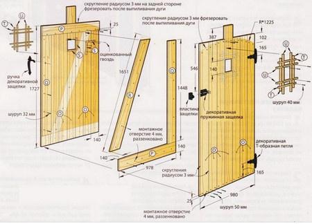 Обустройство: Ворота с калиткой для дачи своими руками