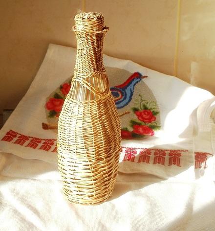 Обустройство: Плетеная бутылка