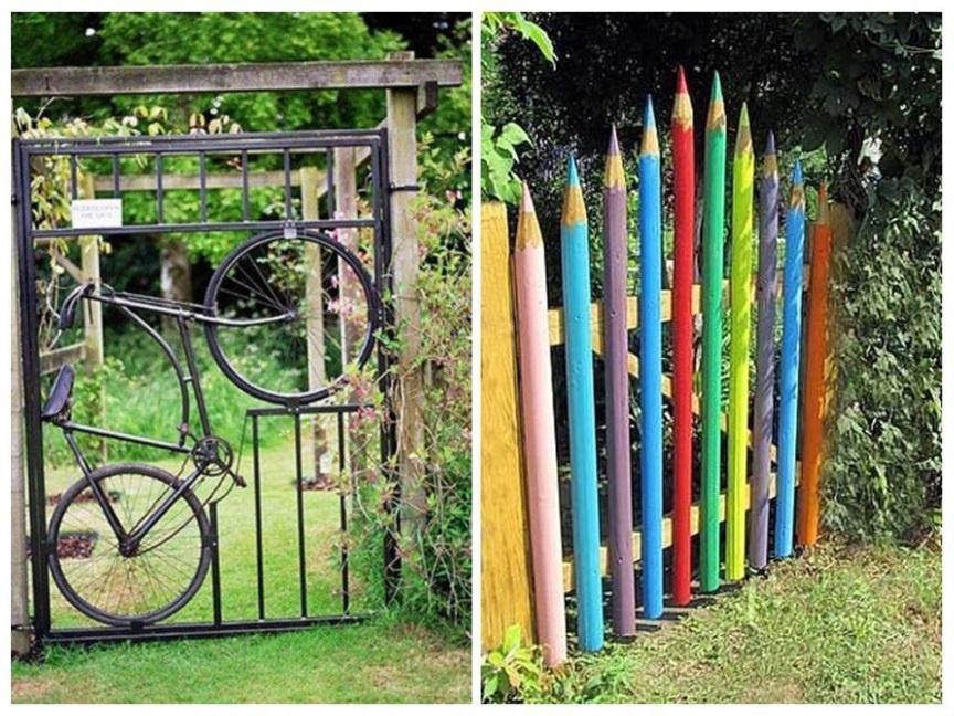 Ворота для дачи своими руками фото 381