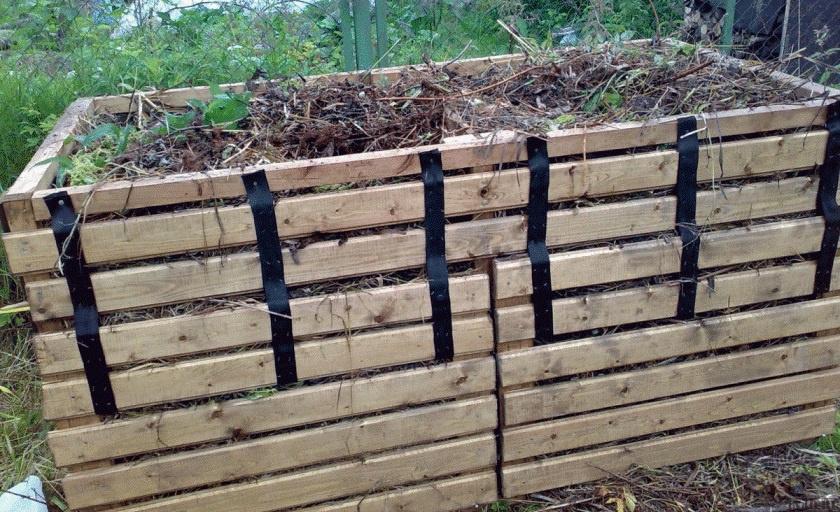 Огород: Ящик для компоста