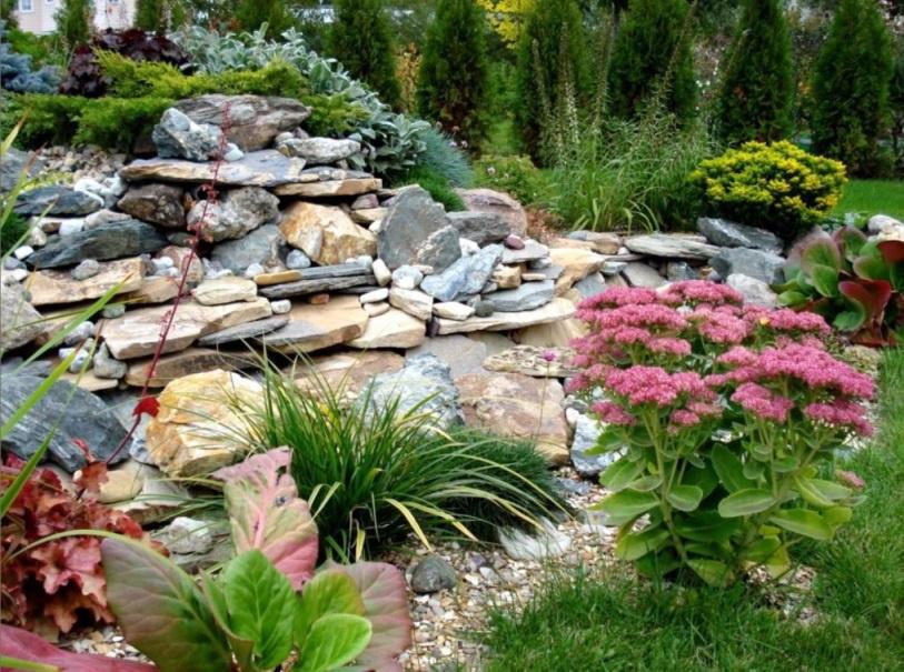 Ландшафтный дизайн: Декорирование участка камнями