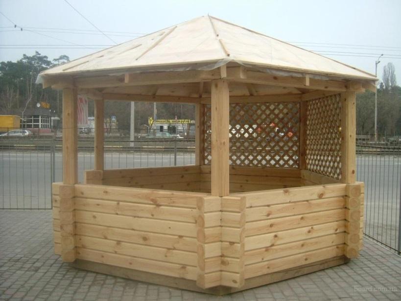 Обустройство: Строительство деревянной беседки своими руками для дачи