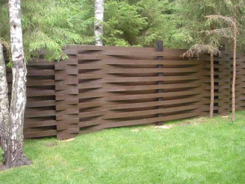 Обустройство: Дачный забор из дерева своими руками
