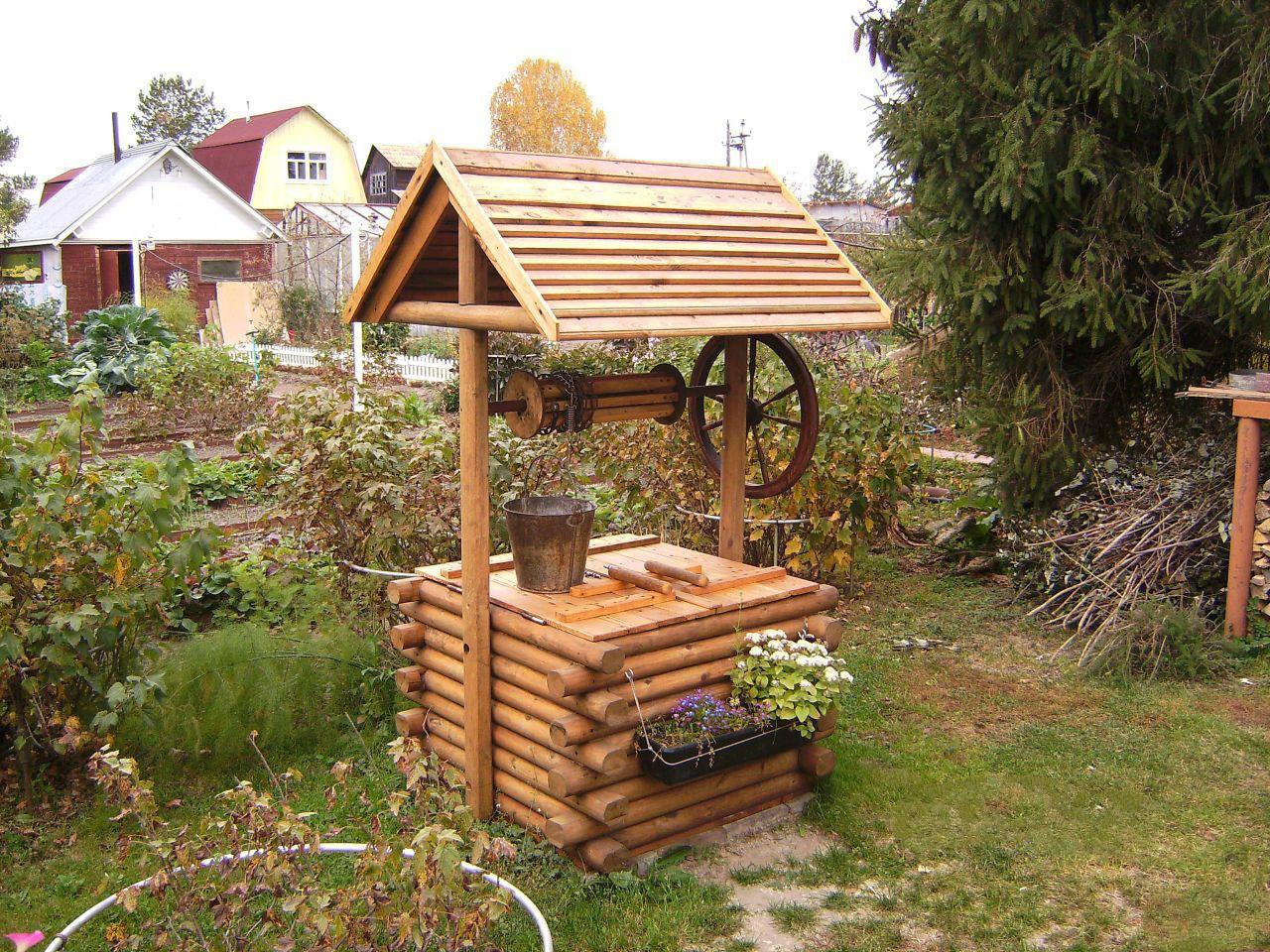 Как сделать деревянный колодец - AtmWood 18