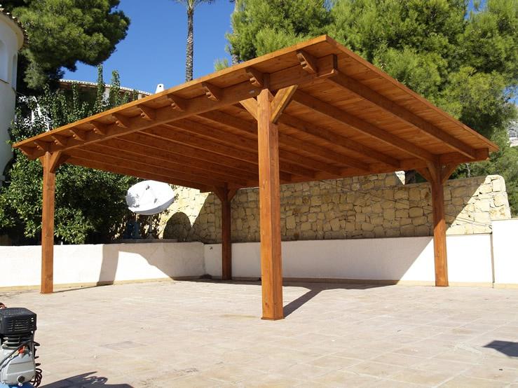 Обустройство: Деревянная крыша для навеса