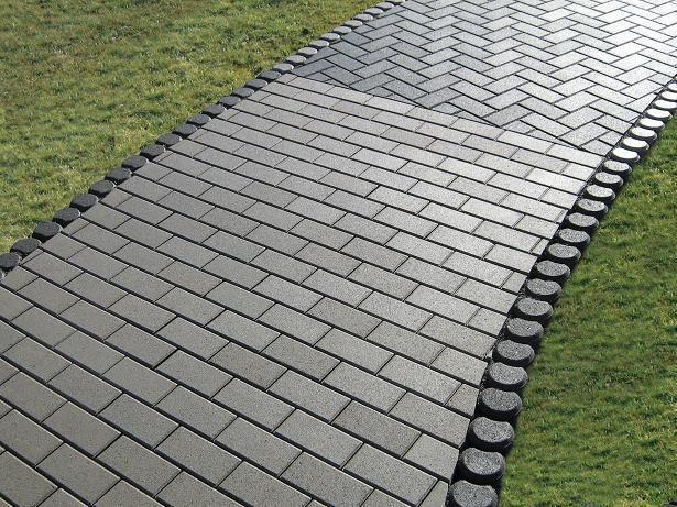 Обустройство: Тротуарная плитка Кирпичик