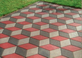 Обустройство: Тротуарная плитка объемный эффект