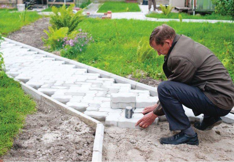 Обустройство: Укладка плитки на сухую стяжку