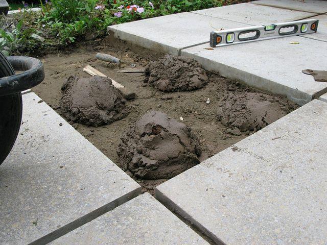 Обустройство: Укладка плитки на бетонный раствор