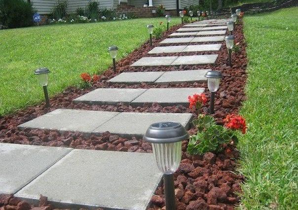 Обустройство: Укладка тротуарной плитки 500х500х50