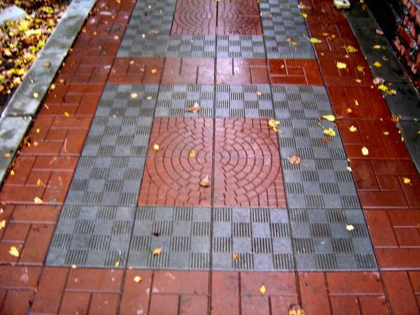 Обустройство: Тротуарная плитка 500х500х50 укладка