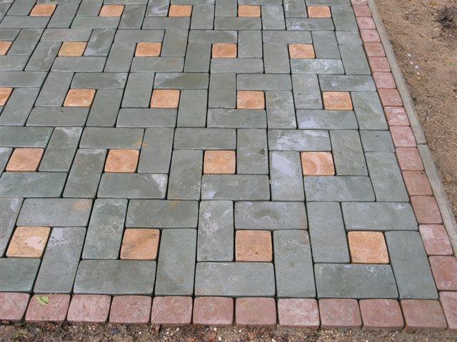 """Обустройство: Схема укладки тротуарной плитки """"Брусчатка"""""""