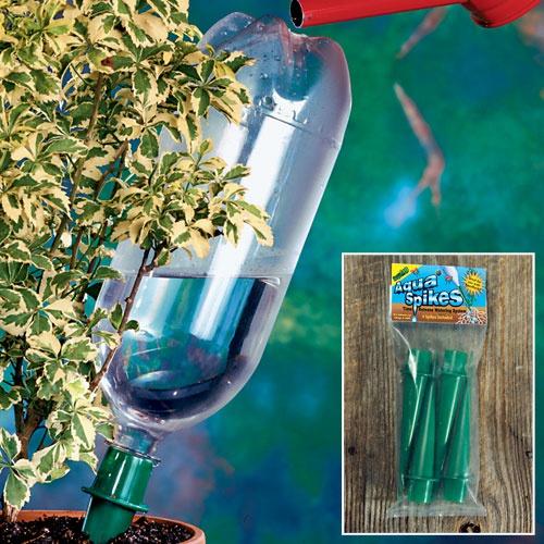 Техника и инструменты для дачи: Капельный полив домашних растений пластиковыми бутылками