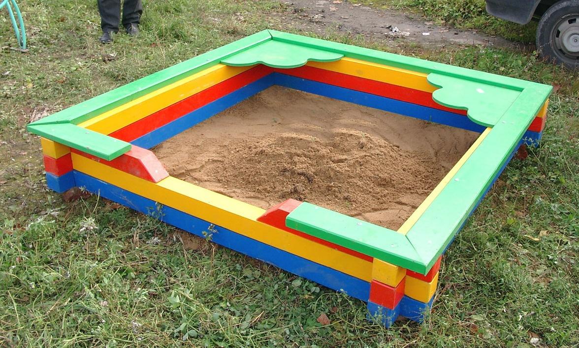 Обустройство: Детская песочница своими руками