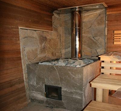Обустройство: дровяная печь