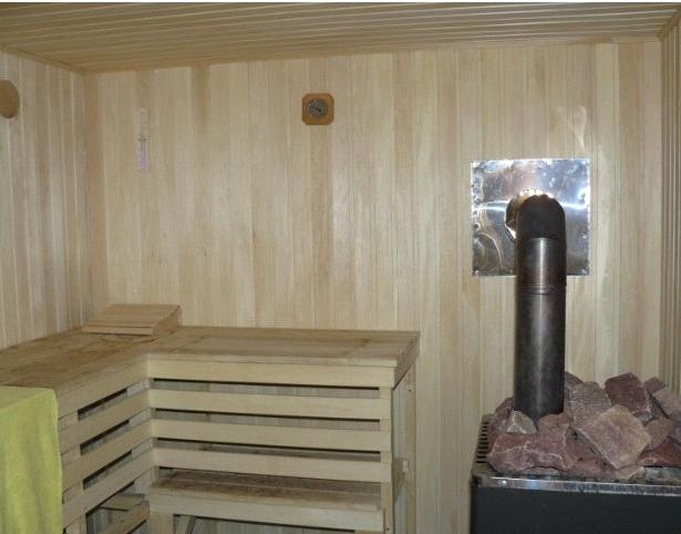 Обустройство: печь для бани
