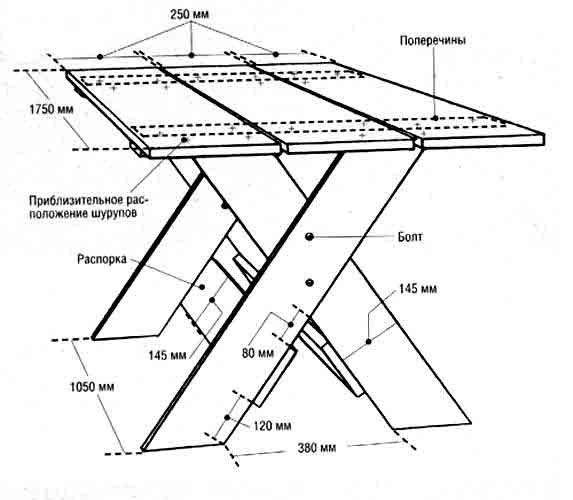 Обустройство: чертеж стола